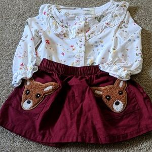 EUC matching skirt set